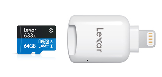 Lexar MicroSD to Lightning Reader iphone