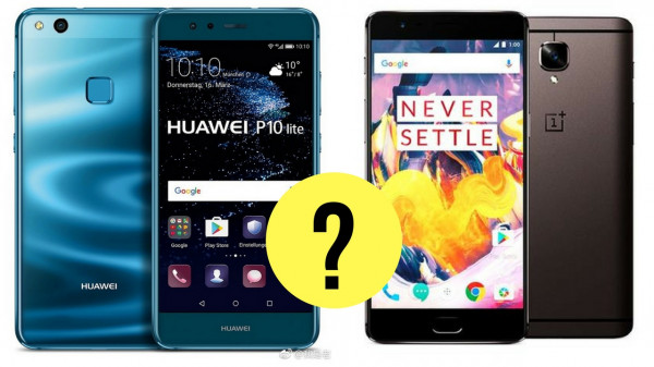Huawei p10 lite oneplus 3t