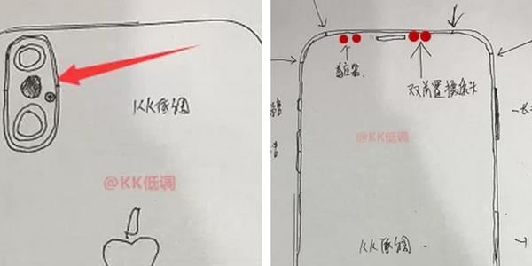 Lækkede skitser af iPhone 8 bekræfter vertikalt dual kamera