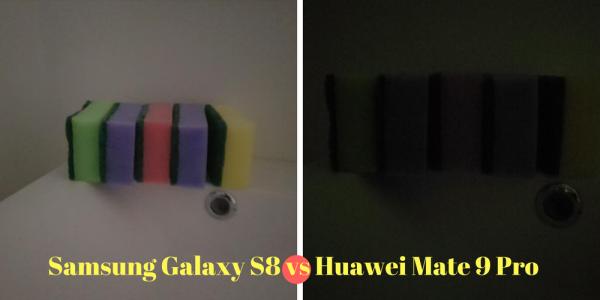 Så meget bedre er Samsung Galaxy S8 til at tage billeder i mørke end Huawei Mate 9 Pro