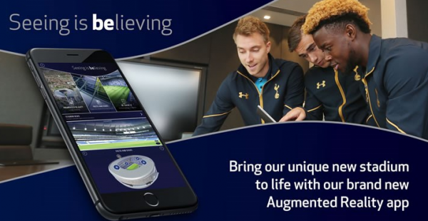 Kom på VR og AR-rundtur på Tottenham Hotspurs stadion