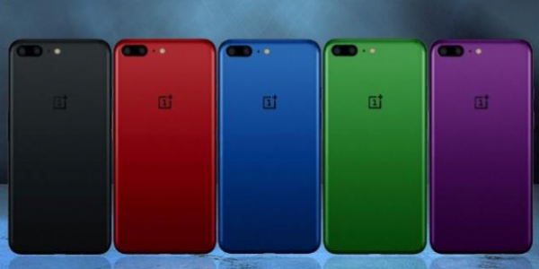 Nye computerbilleder viser OnePlus 5 i fem forskellige farver