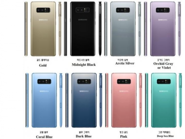galaxy note 8 colours