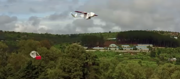 drone levering medicin afrika