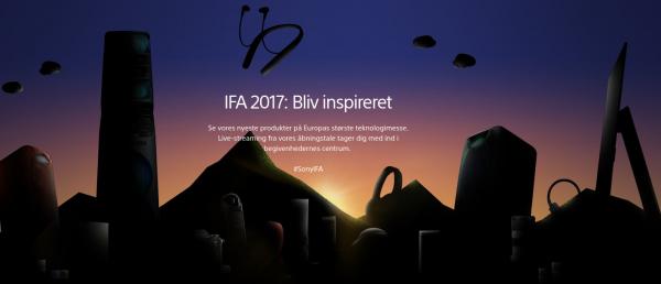Live streaming fra Sonys event på IFA 2017 – se med her
