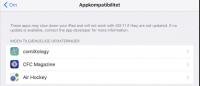 32 bit apps ikke kompatible med ios 11