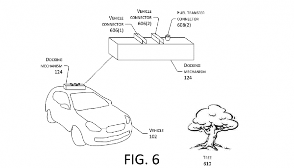 amazon patent drone opladning elbiler