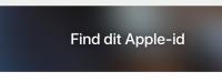 glemt brugernavn og kodeord til apple id