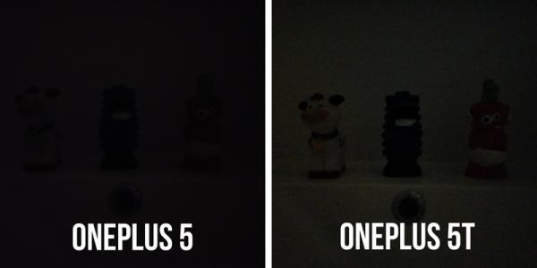 Test af oneplus 5t mørke vs