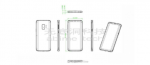 Skitser af Samsung Galaxy S9: Fingeraftryksscanner på bagside
