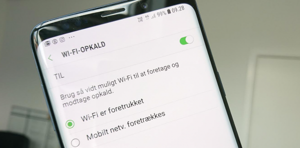 samsung mobil wifi opkald volte