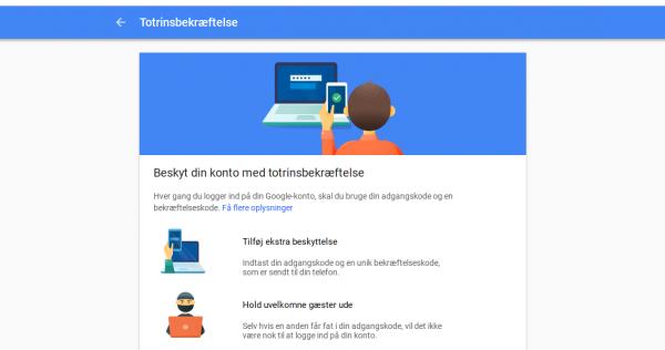 google to faktor autentificering