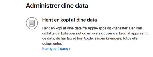 Se hvordan du gør: Download al den data, Apple har om dig