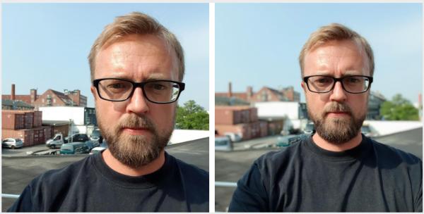 test af kamera samsung galaxy note 9  selfie med og uden slørig