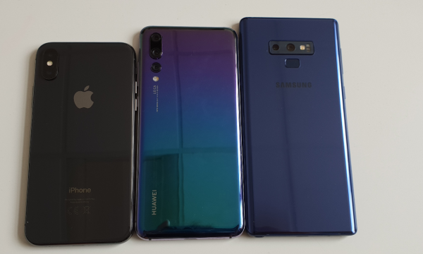 ihpone x vs huawei p20 pro vs samsung galaxy note 9