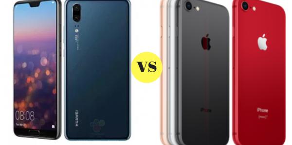huawei p20 vs iphone 8
