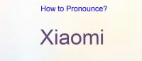 hvordan udtaler man xiaomi