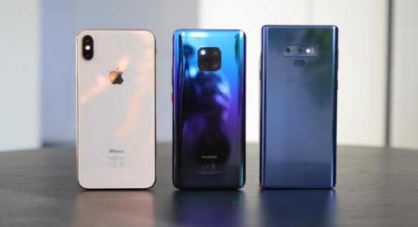 iphone xs max vs huawei mate 20 pro vs samsung galaxy note 9 - 2