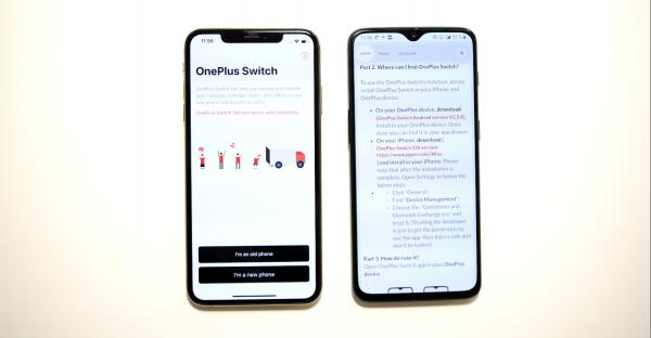 Sådan skifter du fra iPhone til Oneplus 6