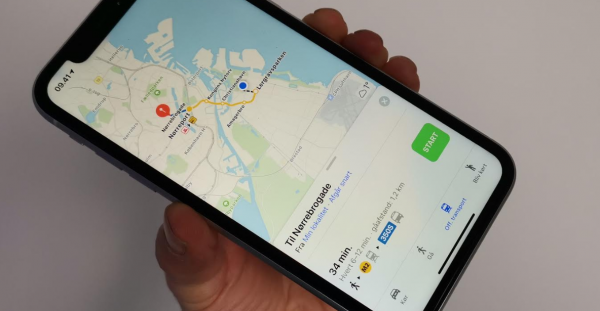 apple maps rutevejledning offentlig transport