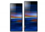 Lækkede billeder viser formatet på Sony Xperia 10 og 10 Plus-skærme