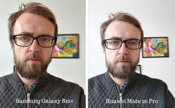 ScSamsung Galaxy S10 vs Mate 20 pro selfie
