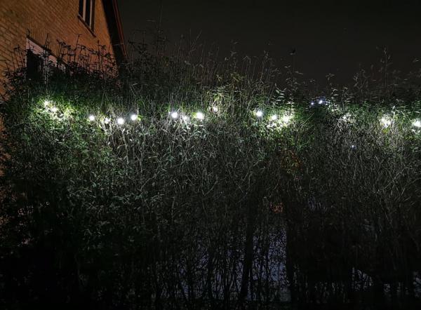 huawei p30 pro mørke hæk med lys