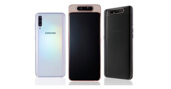 samsung galaxy a80 a70 a50 a40 a20e funktioner pris