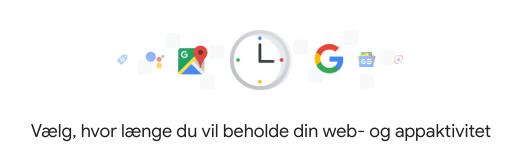 slet automatisk data google