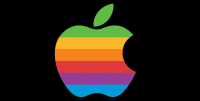 apple rainbow regnbue logo