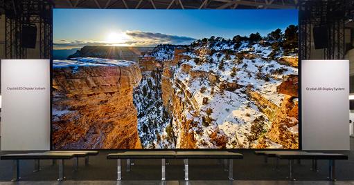 sony crystal tv wall