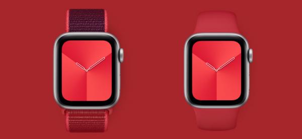 Nyt (Product)RED Apple Watch Series 5 kan komme til maj