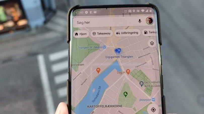 Google Maps fremhæver restauranter med udbringning