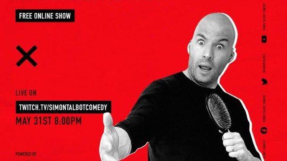 Simon Talbot klar med interaktivt standup-show på Twitch