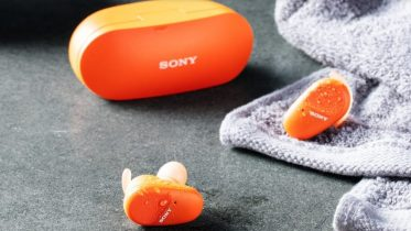 Sony WF-SP800N er trådløse earbuds med aktiv støjreducering