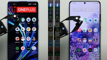 OnePlus 8 Pro vs Samsung Galaxy S20 Ultra i speed test
