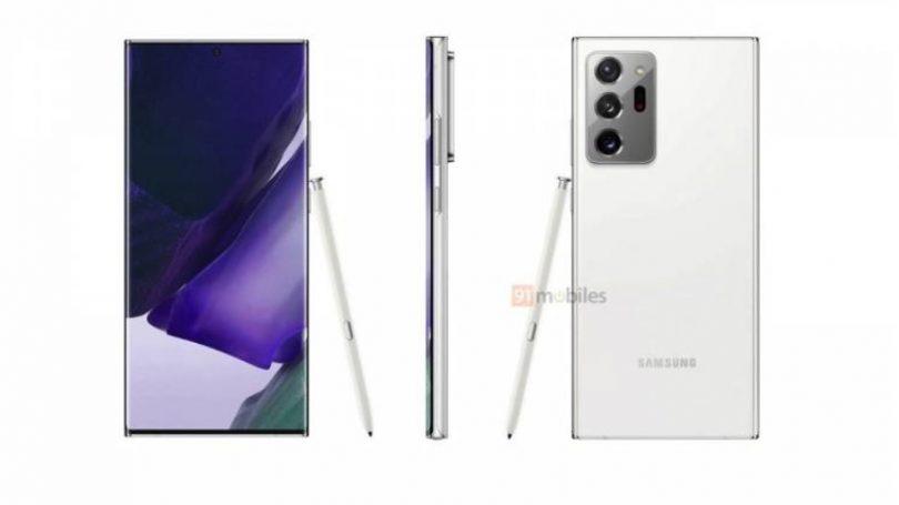 Billeder af Samsung Galaxy Note 20 Ultra i Mystic White