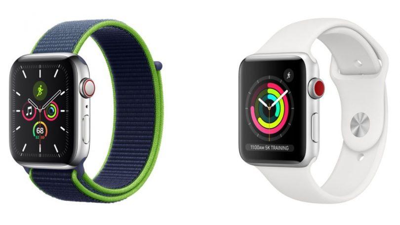 Apple Watch 3 eller 5: Hvilket smartwatch er bedst?