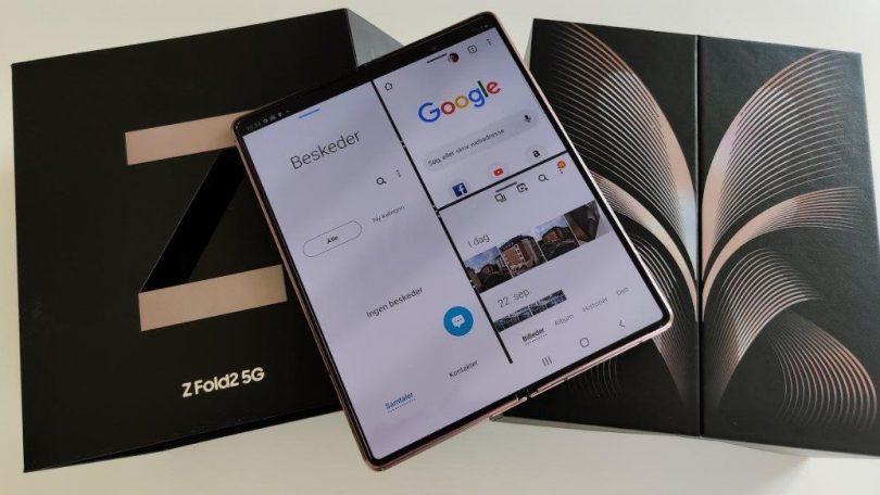 Første indtryk og test af Samsung Galaxy Z Fold 2