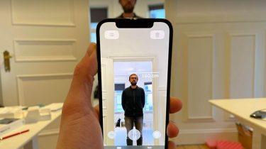 iPhone 12's LiDAR-scanner kan måle en persons højde