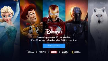 Disney+ bliver snart dyrere – stiger med 20 kroner