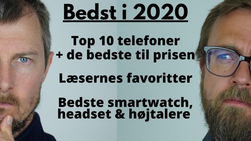 Årets bedste telefoner 2020 – her er top 10 listen