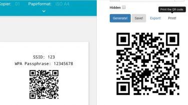 Skab en QR-kode for let at dele dit WiFi-kodeord