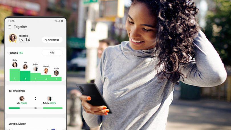 Samsung Health lader dig udfordre vennerne i fitness
