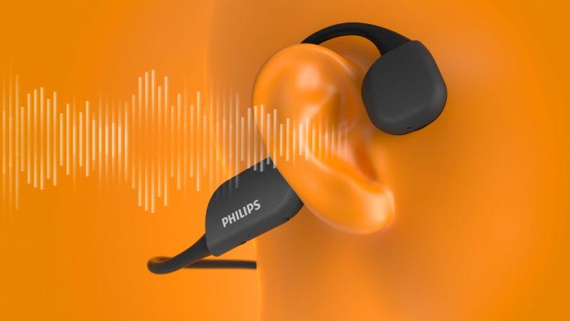 Philips A6606 – Sportsheadset med knogle-vibration