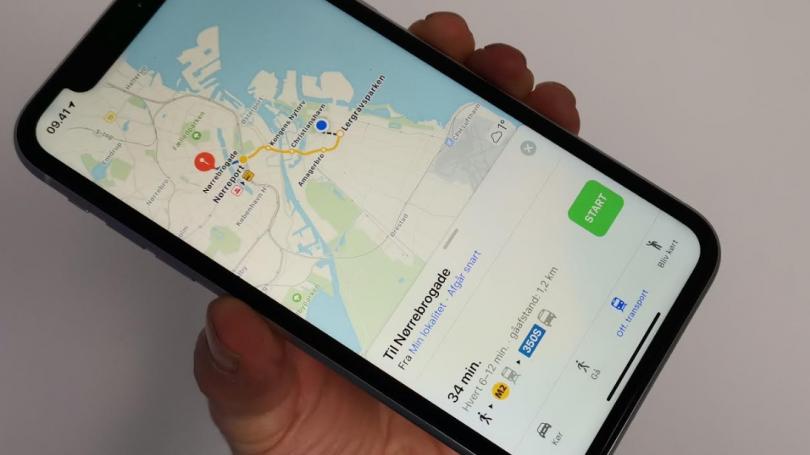 Rapportér om ulykke og fartkamera i Apple Maps med iOS 14.5