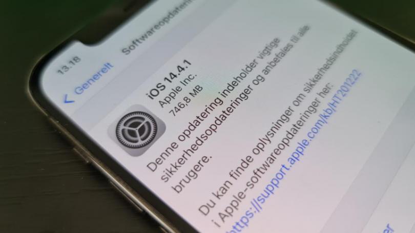 Apple anbefaler alle iPhone brugere at opgradere til iOS 14.4.1