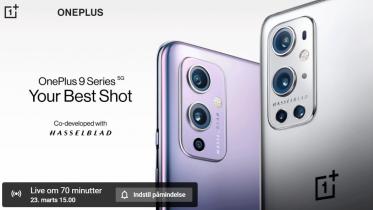 Live video stream af OnePlus 9, 9 Pro og Watch lancering