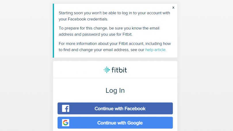 Fitbit dropper login med Facebook af sikkerhedsmæssige grunde
