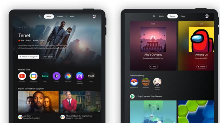 Google annoncerer Entertainment Space til Android-tablets